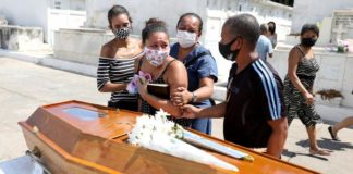 Familiares de paciente fallecido por coronavirus